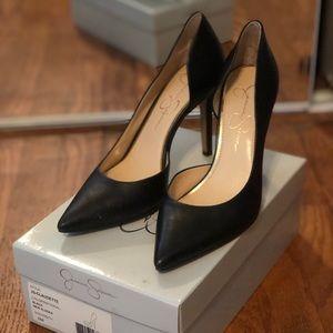 Jessica Simpson Claudette d'orsay leather pumps